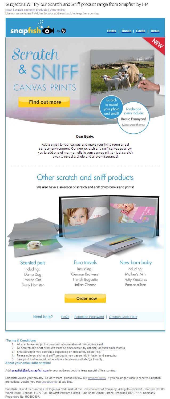 Snapfish April fool email creative design
