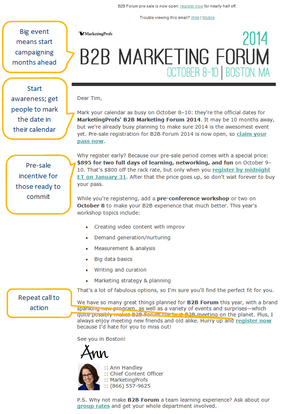Irresistible Invitation Emails for Webinars and Events – Invitation Event Sample