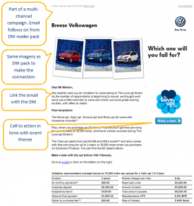 Volkswagen Sales Promotion Event Email
