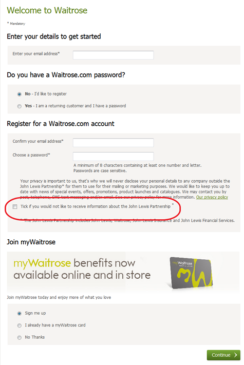 WaitroseRegistration