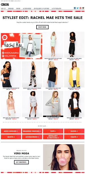 ASOS example discovery email