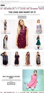 ASOS Dress theme examle email