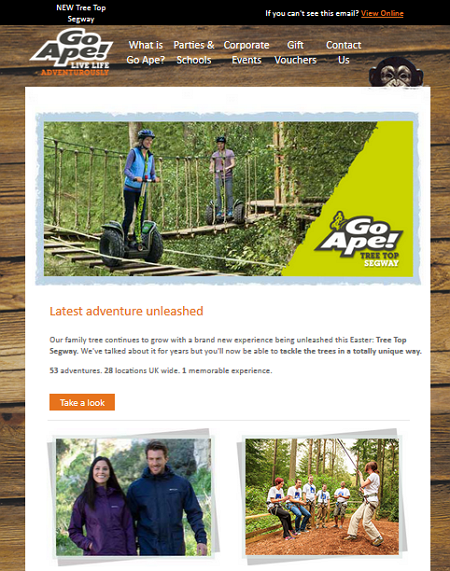 GoApe April Fool Treetop Segway