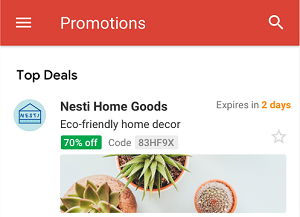 Gmail Top Deals shown in Promotions tab