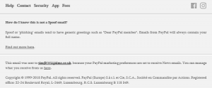 PayPal unsubscribe link