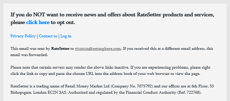 RateSetter example unsubscribe footer