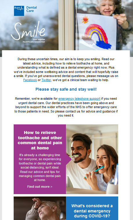 BUPA How To Relieve Toothache and Common Dental Pain