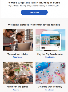 HomeAway Travel Email during COVID