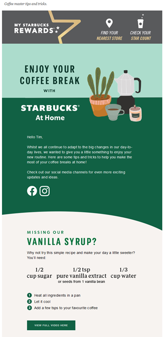 Starbucks Vanilla Syrup Recipe